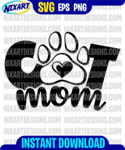 Cat mom svg and png files for cutting and print
