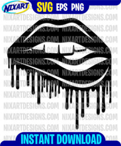 Lips svg and png files for cutting and print
