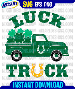 Luck Truck svg and png files for cutting and print