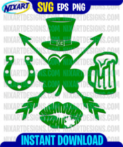 Patricks day svg and png files for cutting and print