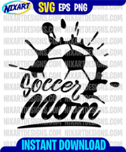 Soccer Mom svg and png files for cutting and print
