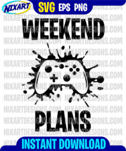Weekend Plans svg and png files for cutting and print