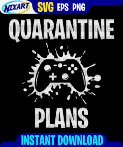 Quarantine Plans svg and png files for cutting and print. Version for Black.