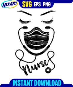Nurse svg and png files for cutting and print.