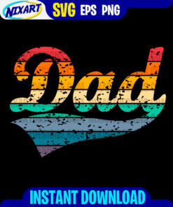 Dad svg and png files for cutting and print. Version for black