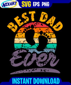 Best Dad ever svg and png files for cutting and print. Version for Black