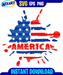 America svg and png files for cutting and print.