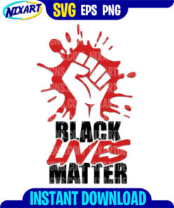 Black Lives Matter svg and png files for cutting and print.