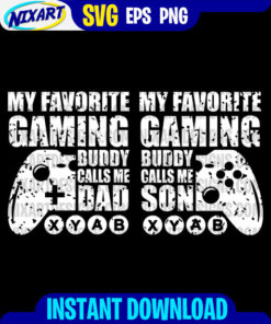 Gaming Buddy svg and png files for cutting and print. Version for Black