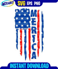 Merica flag svg and png files for cutting and print.