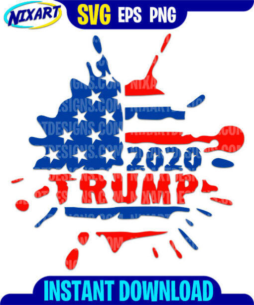 Trump 2020 svg and png files for cutting and print.