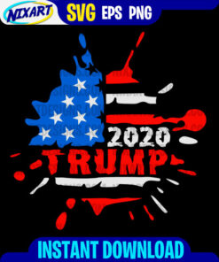 Trump 2020 svg and png files for cutting and print. Version for Black.