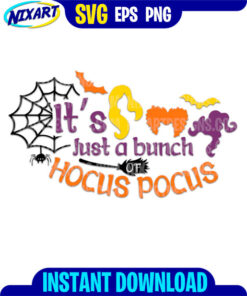 Hocus Pocus svg and png files for cutting and print.