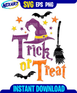 Trick Or Treat svg and png files for cutting and print.